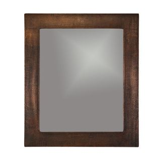 36-inch Hand Hammered Rectangle Copper Mirror