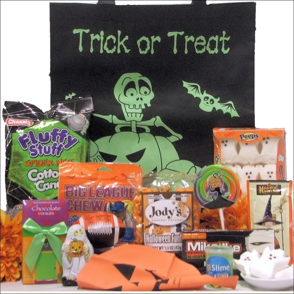 Glow-in-the-Dark Spooky Treats Halloween Gift Basket for Tween Boy
