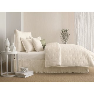 Candice Olson In the Groove Ivory Crinkle Coverlet and Sham Seperates