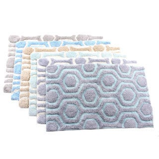 Candice Olson Strands Geometric Cotton Bath Rug