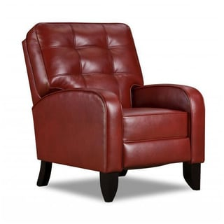 Made to Order Simmons Upholstery Jamestown Red Hi Leg Recliner