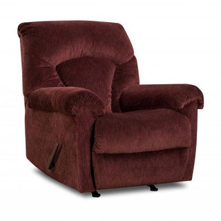 Made to Order Simmons Upholstery Aiden Wine Rocker Recliner