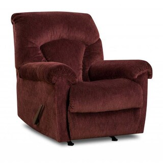 Made to Order Simmons Upholstery Aiden Wine Power Rocker Recliner