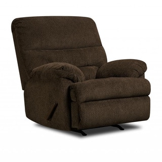 Made to Order Simmons Upholstery Dory Chocolate Power Rocker Recliner