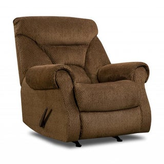 Made to Order Simmons Upholstery Aegean Chocolate Rocker Recliner