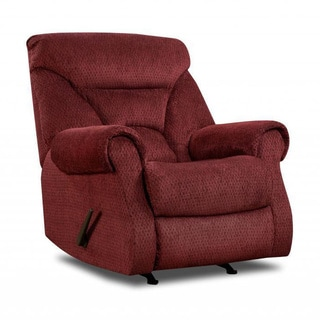 Made to Order Simmons Upholstery Aegean Wine Rocker Recliner