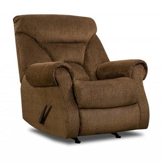 Made to Order Simmons Upholstery Aegean Chocolate Power Rocker Recliner
