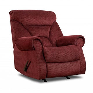 Made to Order Simmons Upholstery Aegean Wine Power Rocker Recliner