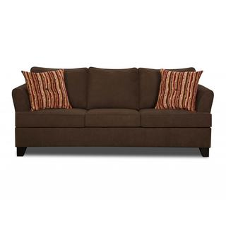 Made to Order Simmons Upholstery Diver Chocolate Sofa
