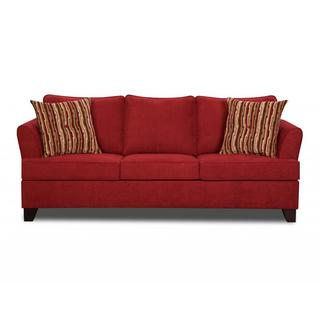 Made to Order Simmons Upholstery Diver Red Sofa