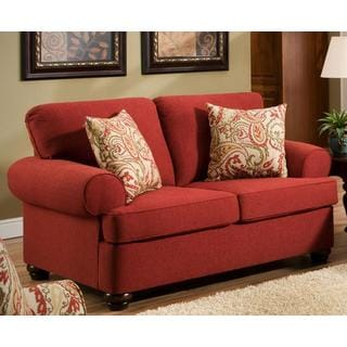 Made to Order Simmons Upholstery Sentiment Red Loveseat