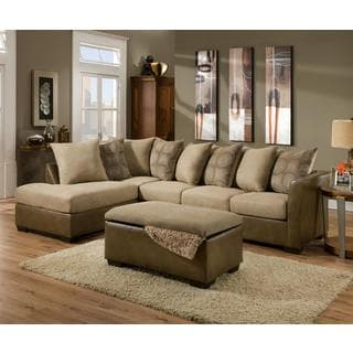 Made to Order Simmons Upholstery Harrison Taupe Sectional