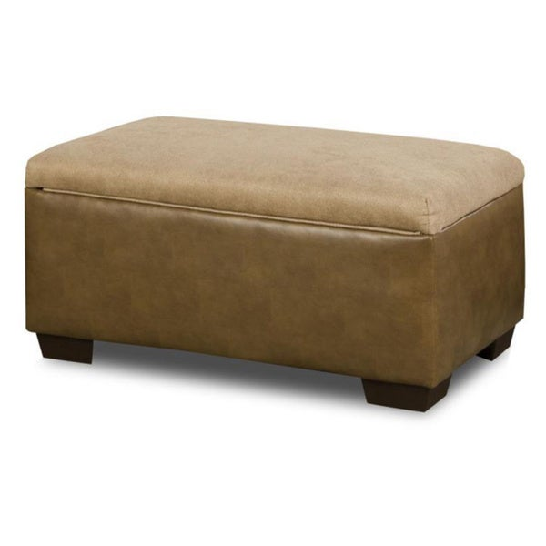 Made to order simmons upholstery harrison taupe storage