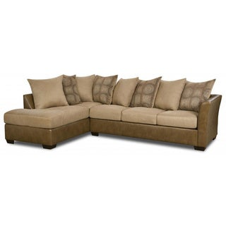 Made to Order Simmons Upholstery Harrison Taupe Hide-A-Bed Sectional