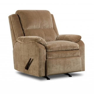 Made to Order Simmons Upholstery Maui Camel Rocker Recliner