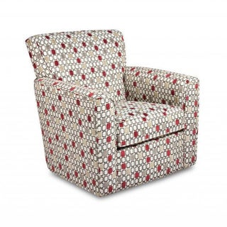 Made to Order Simmons Upholstery City Block Red Swivel Chair