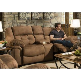 Made to Order Simmons Upholstery Dicaprio Latte Motion Loveseat