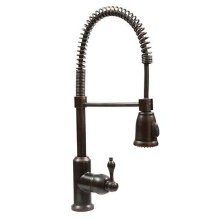 Oil Rubbed Bronze Spring Pull-down Kitchen Faucet