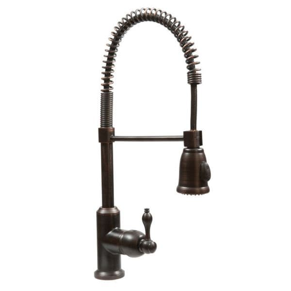oil rubbed bronze spring pull down kitchen faucet