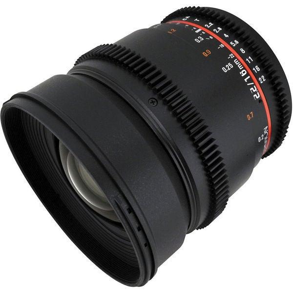 Rokinon Black 16mm T2.2 Cine Lens for Canon EF