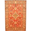 Herat Oriental Afghan Hand-knotted Kazak Rust/ Tan Wool Rug (6'8 x 9'1)