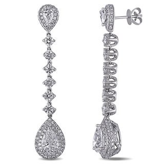 Miadora Signature Collection 18k Gold 5ct TDW Certified Diamond Earrings (D, SI1-SI2, GIA)