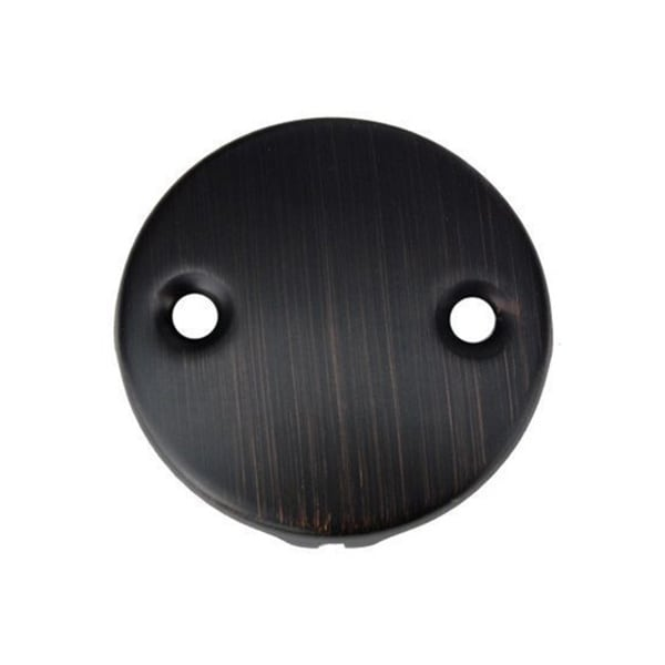 Two-Hole Oil Rubbed Bronze Overflow Cover/ Face Plate