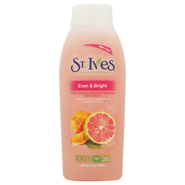St. Ives Even & Bright Pink Lemon & Mandarin Orange 24-ounce Body Wash