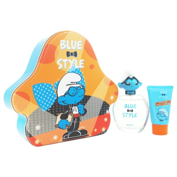 First American Brands The Smurfs Blue Style Brainy Kid's 3-piece Gift Set