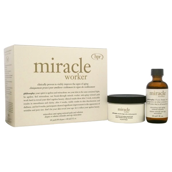 Philosophy Miracle Worker 2-piece Miraculous Anti-Aging Retinoid Pads and Solution Kit