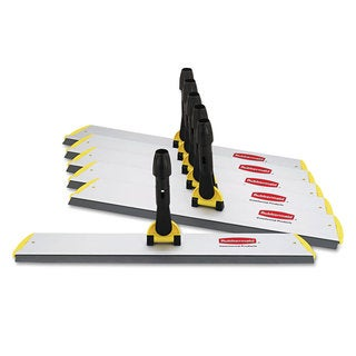 Rubbermaid Commercial Yellow 24 x 4 1/2 Aluminum Hygen Quick Connect S-S Frame Squeegee