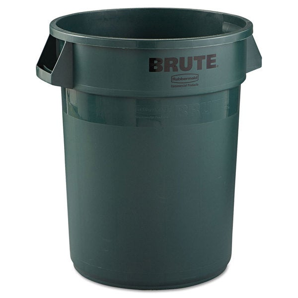 Rubbermaid Commercial Brute Dark Green 32-gallon Refuse Container