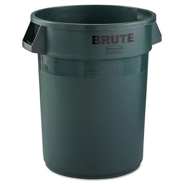 Rubbermaid Commercial Brute Dark Green 32-gallon Refuse Container