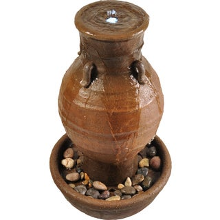 Savannah Brown Urn Pottery Fountain