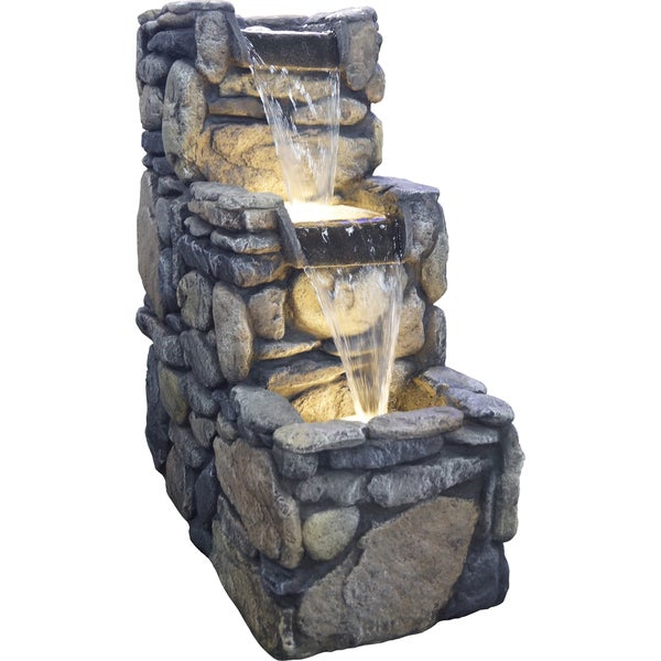 Glendale Resin Stone Lighted Fountain