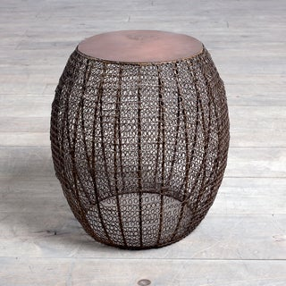 Jacqueline Antiqued Coppertone Side Table (India)