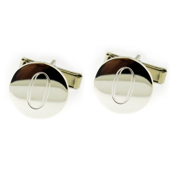Hand-crafted .925 Sterling Silver Monogrammed Round Cuff Links (Mexico) 13924533