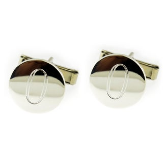 Hand-crafted .925 Sterling Silver Monogrammed Round Cuff Links (Mexico)