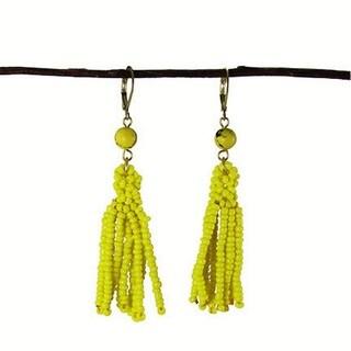 Lemon Tassel Drop Earrings (India)