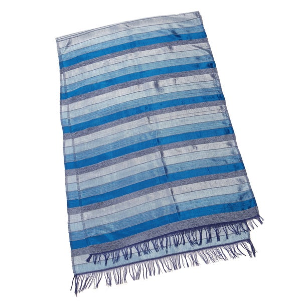 Ocean Blue and Grey Table Runner (Morocco)