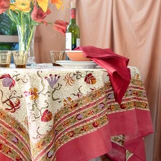 Fleurs des Indes Square Cotton Tablecloth