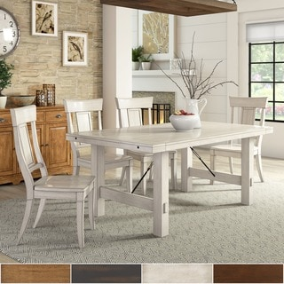 TRIBECCA HOME Swindon Rustic Oak Turnbuckle Extending Dining Table