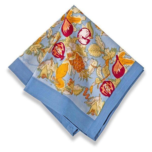 Tutti Frutti Blue/ Red Cotton Napkins (Set of 6)