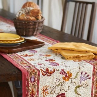 Fleurs des Indes Multicolored Cotton Table Runner