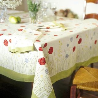Springfields Multicolored Round Cotton Tablecloth