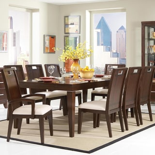 TRIBECCA HOME Silves Warm Cherry Transitional Dining Table