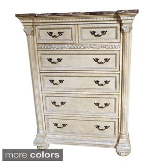 Roxbury Faux Marble Top 5-drawer Wood Chest