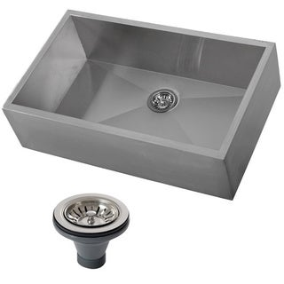 Ticor 4403BG-DEL 33-inch 16-gauge Single Bowl Stainless Steel Undermount Farmhouse Apron Kitchen Sink