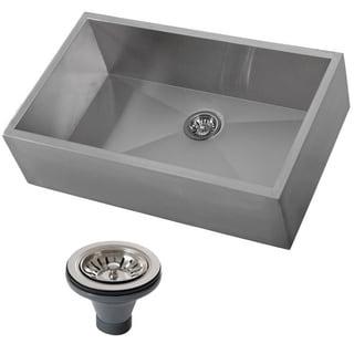 Ticor 4403BG-DEL Stainless Steel Undermount Farmhouse Apron Kitchen Sink