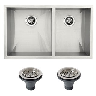 Ticor 4404BG-DEL Stainless Steel Undermount Double Bowl Kitchen Sink